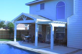 custom designed patio cover and shade arbor