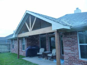 Patio Cover with Cedar Trim