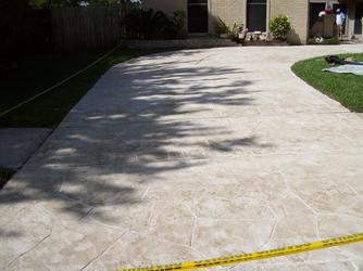 Decorative Stamped Concrete Driveway Edging By Custom ...