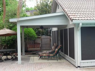 Kingwood covered patio