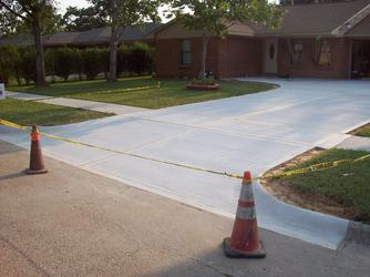 Finished Driveway, Houston