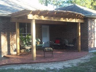 Wood Shade Arbor, Kingwood