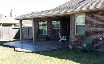 patio cover,houston,stamped,stained, concrete,
