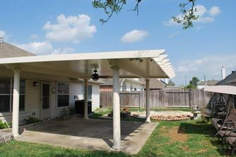 metal patio cover in Spring, TX