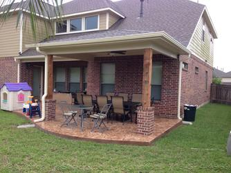 Backyard Patio Cover Kingwood