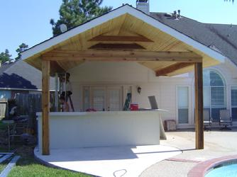 patio cover cedar beams