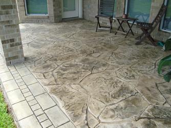 Stamped and Stained Concrete in Houston