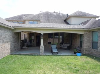 breezeway, patio cover, katy, arches, brick,