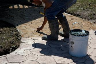 Stamped Colored Custom Patio Concrete