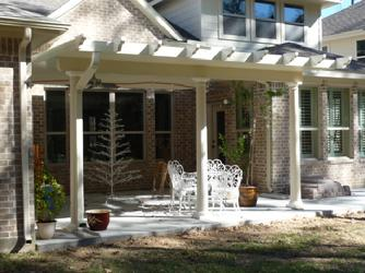 decorative aluminium patio cover