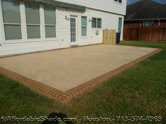 and patio pictures patios concrete backyard ideas an inexpensive here s