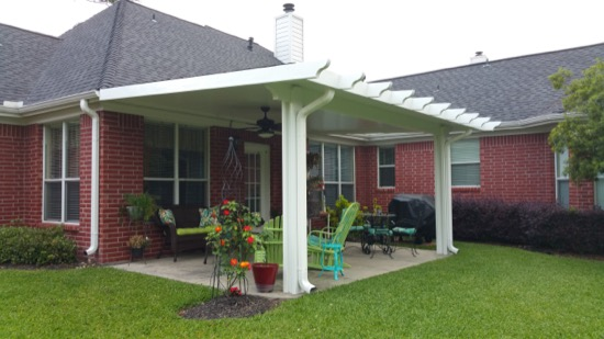 Marvelous As You Can See From The Pictures, Our Aluminum Patio Covers Are Sleek,  Blending With A Variety Of Different Home Designs. The Covers Lend The  Feeling Of A ...