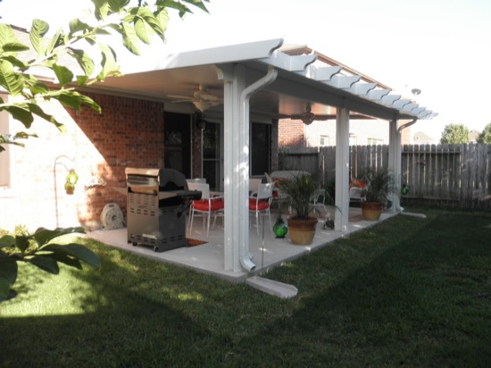 As You Can See From The Pictures, Our Aluminum Patio Covers Are Sleek,  Blending With A Variety Of Different Home Designs. The Covers Lend The  Feeling Of A ...
