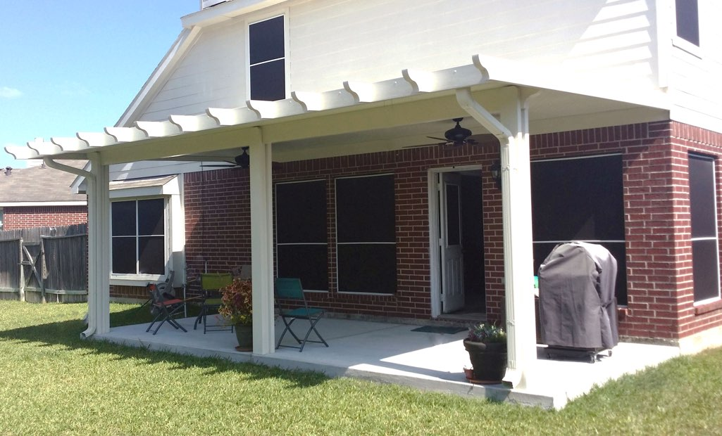 Elegant Aluminum Patio Cover With Ceiling Fans